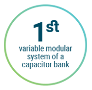First modular system of a capacitor bank