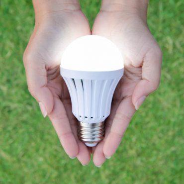 Lamp in hands